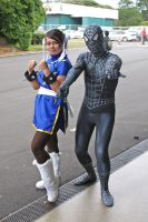 Black Spidey and Chun-Li by lyctiger