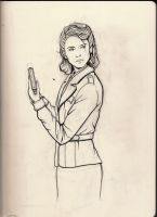 Agent Carter - Sketchbook Sketch by KennySwanston