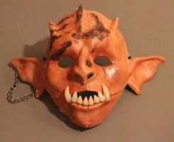 Toothy Gape Orc Mask by brandyfox