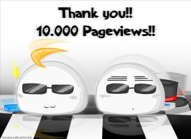 Thank You 10.000 Pageviews by Deidara-Hedeki