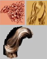 hair study by ByunCaricature