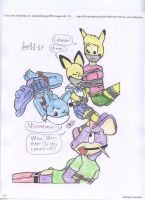 Warturtle and her friends capture by sonic-the-cool-man