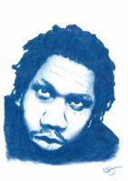 KRS One Pencil Sketch by DJMark563