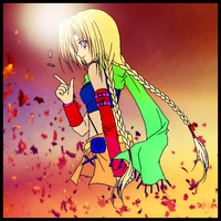 anime Girl Colored(with Background) by sarwansingh