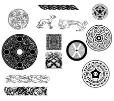 Celtic design brush set by SicilianValkyrie