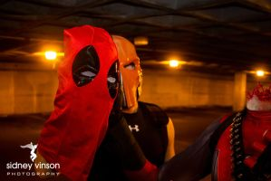 Deadpool vs Deathstroke with Lady Deadpool3 by Sid-itego