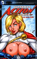 Naughty Powergirl bust cover by gb2k