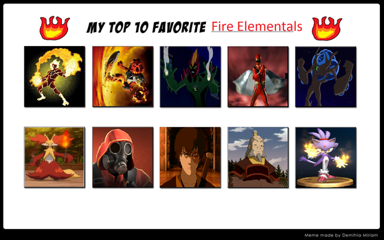 Fav Fire Elementals by MadRedX12