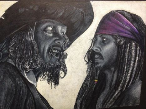 Pirates, white on black. by CastleArt