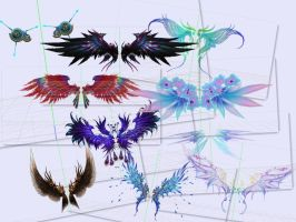 MMD - Perfect World Wings Pack 1 by DesmondChan