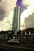 .:Street-Building-and the Sky: by SAMPLE2