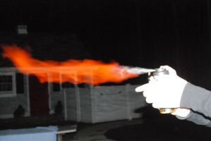 Flame throwing by Kiberz