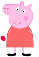 Peppa Pig eating a Red Plum by dev-catscratch