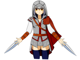 Kanade as an assassin (AB!xAC crossover) by BlackStormN7
