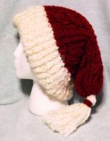 Loom Knitted Cabled Santa Hat by ScarlettRoyale