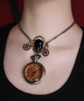 African steampunk Queen necklace 3 by Pinkabsinthe