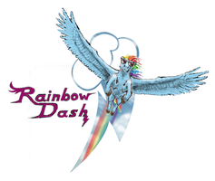 Rainbow Dash shirt design by Pwnyville