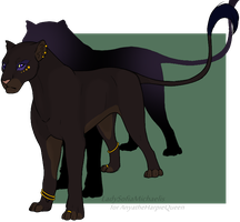 Egyptian Lioness by LadySofiaMichaelis