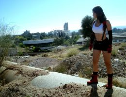 Tifa going to Midgar by Val-Raiseth