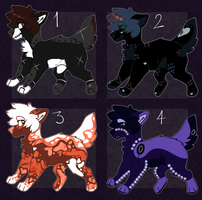 100 Point Adoptables (3/4 open) by Windup-Ghost