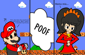 Mario's problem with mystery mushrooms by Kyon000
