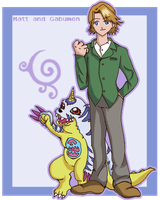 Matt and Gabumon by Mistery-forever