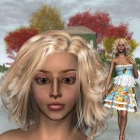 V4 Party Dress And Kitsura by BrokenWings3D