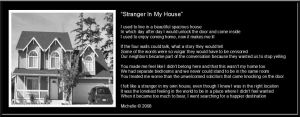 Stranger In My House by VisualPoetress