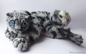 Snow Leopard Art Doll- Commission by Sovriin