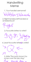 handwriting meme!!!! by Milcay1