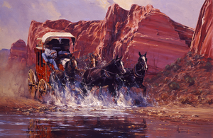 'On Our Way' Oil on Canvas by Robert Hagan by robert-hagan