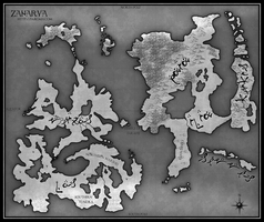 Map of Zanarya by Freesong