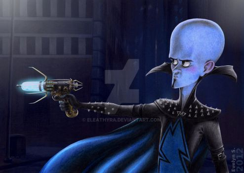 Megamind at night by eleathyra