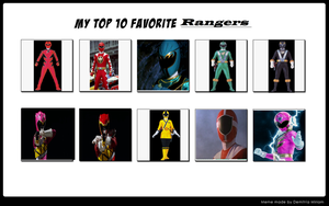 My top 10 favorite Rangers by Dragonprince18