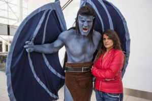 Gargoyles Goliath and Elisa Maza at DCC 2014 7 by PhoenixForce85