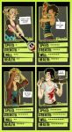 zombie apocalypse collector's cards by starsandpolkadots