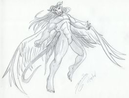 The Winged Brother by DracRaz