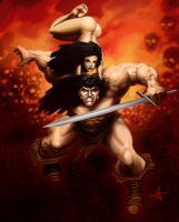 Conan, and Friend. by Caveatscoti