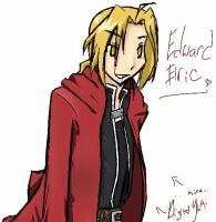 Edward Elric Doodle by DigitalYuki