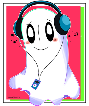 Beats By Napstablook by polarisbunny