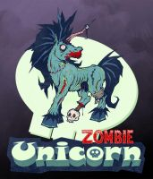 Zombie Unicorn by Sku11head