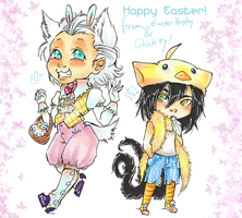 Ashflake Easter Chibies by Terrysaur