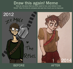 Draw this again meme - Christophe by CozzaCake