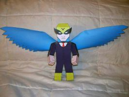 Harvey Birdman paper hero by SharkBomb
