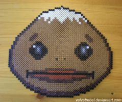 Goron Mask - Perler Beads by VelvetRebel