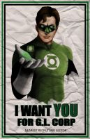 Green Lantern recruitment by waitedesigns