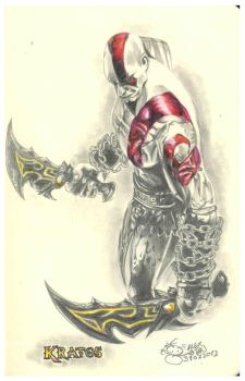 Kratos - The God of War by aleksitanninen