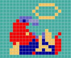 Mario Down Tiled by drsparc