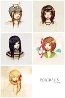 Portraits by froggy-chan