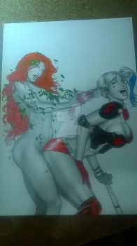 POISONIVY AND HARLEY QUINN by RudPatrocinio